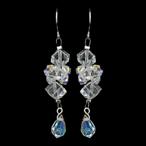 AB, Crystals, Dangle, Earrings, Jewelry, Silver, Swarovski Crystal Beads