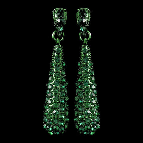 Dangle, Earrings, Green, Jewelry, Rhinestones, Sale, Silver