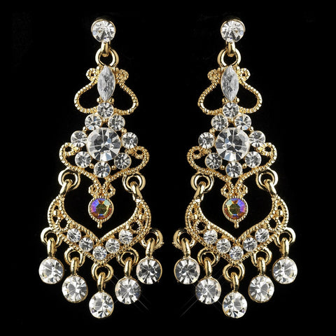 AB, Chandelier, Earrings, Gold, Jewelry, Marquise, Rhinestones