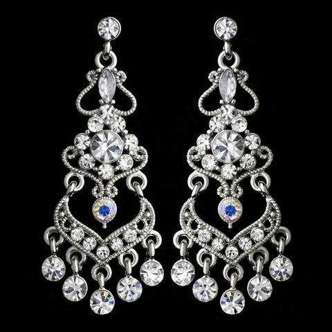 AB, Chandelier, Earrings, Jewelry, Marquise, Rhinestones, Rhodium