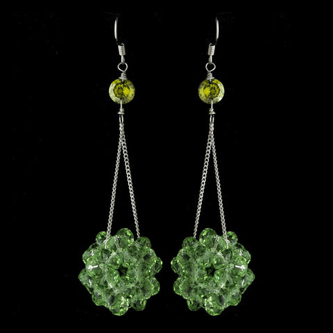 Crystals, Dangle, Earrings, Green, Jewelry, Peridot, Sale, Silver