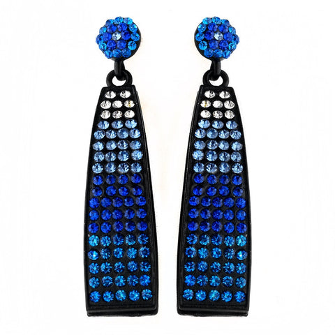 Black, Blue, Dangle, Earrings, Jewelry, Rhinestones