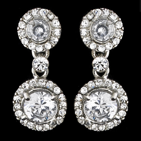 Clear, Drop, Earrings, Jewelry, Rhinestones, Silver