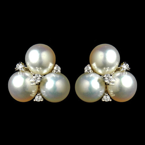 Crystals, Cubic Zirconias, Diamond White, Earrings, Freshwater Pearls, Jewelry, Pearls, Rhodium, Stud