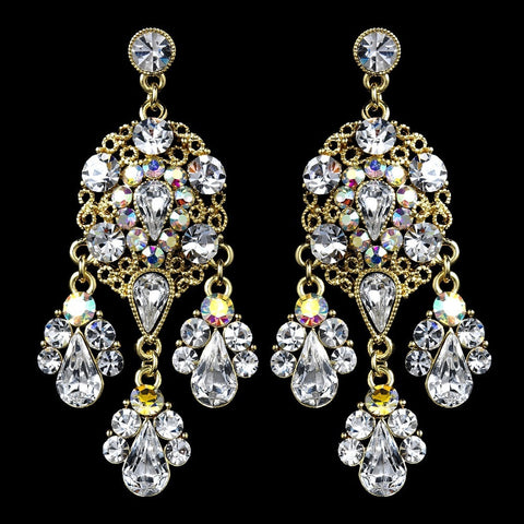 AB, Chandelier, Crystals, Earrings, Gold, Jewelry, Pear, Rhinestones