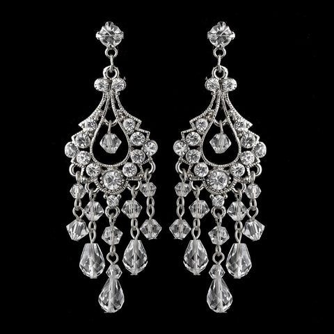 Chandelier, Clear, Crystals, Earrings, Jewelry, Rhinestones, Rhodium, Swarovski Crystal Beads