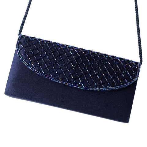 Accessories, Champagne, Evening Bag, Navy, Sale, Silver Metallic