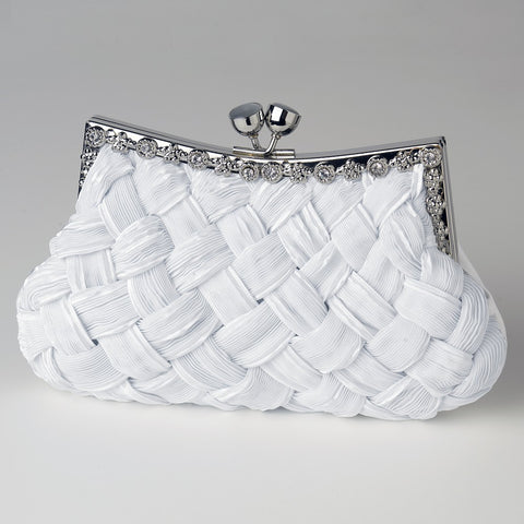Accessories, Black, Evening Bag, White