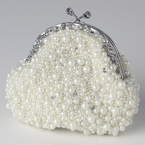 Accessories, Evening Bag, Ivory, White