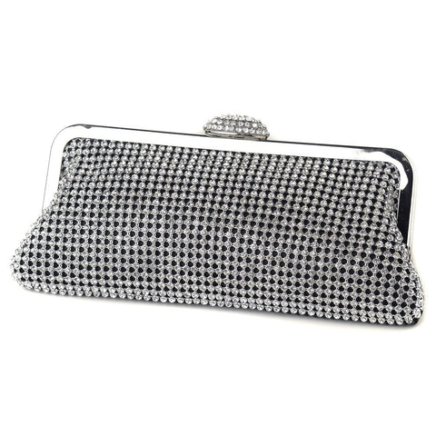 Accessories, Clear, Evening Bag, Silver