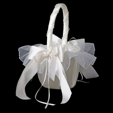 Accessories, Ceremony, Children's Accessories, Flower Girl Basket, Ivory, White