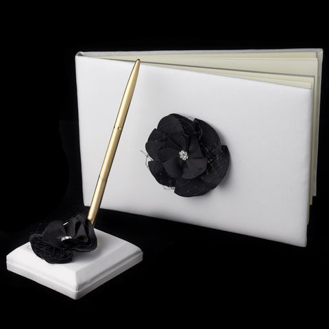 Accessories, Black, Flower, Guest Book, Reception