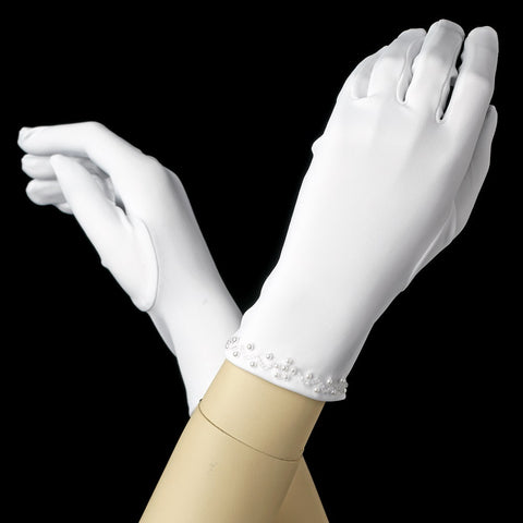 Accessories, Children's Accessories, Children's Gloves, Gloves, Ivory, White, Wrist