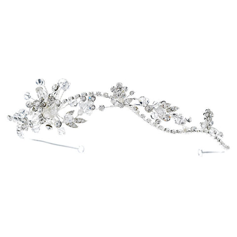 Clear, Crystals, Hair Vines, Headband, Headpieces, Rhinestones, Sale, Side Headband, Silver, Swarovski Crystal Beads