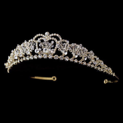 Beads, Clear, Crystals, Gold, Headpieces, Pageant Crowns, Rhinestones, Sale, Swarovski Crystal Beads, Tiara