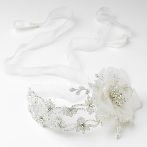 1920s, Accessories, Beads, Belts & Sashes, Bohemian, Fabric, Faux Pearls, Headband, Headpieces, Ivory, Lace, Organza, Pearls, Rhinestones, Ribbon Headband, Side Headband, Vintage