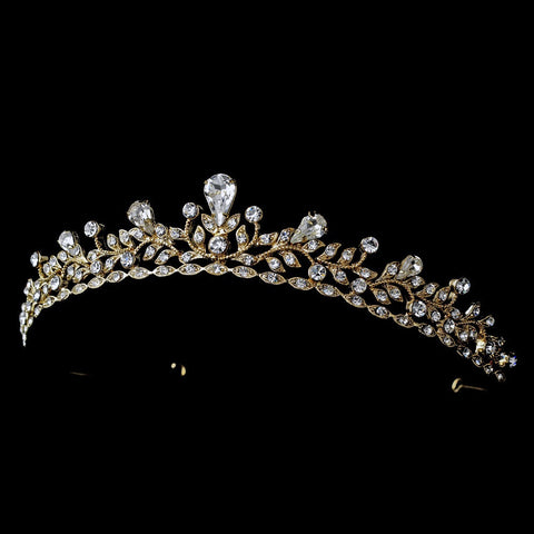 Clear, Gold, Headpieces, Rhinestones, Sale, Tiara