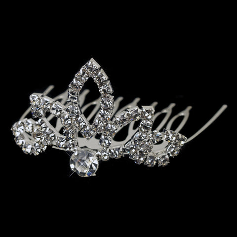 Accessories, Child's Headpiece, Children's Accessories, Clear, Headpieces, Rhinestones, Sale, Silver, Tiara
