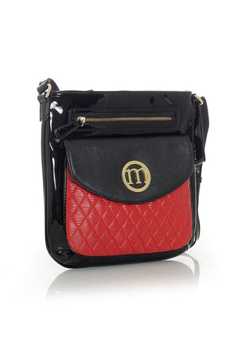 Red Quilted Eco Leather Handbag
