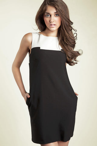 Black and White Block Dress