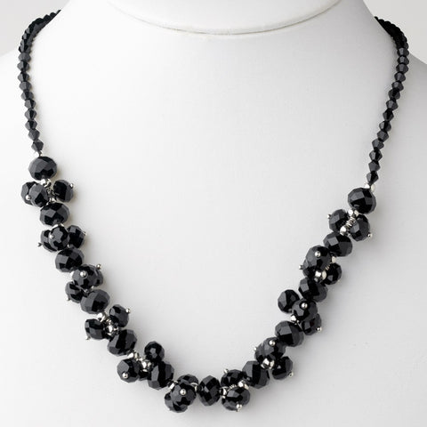 Black, Jewelry, Necklace, Silver