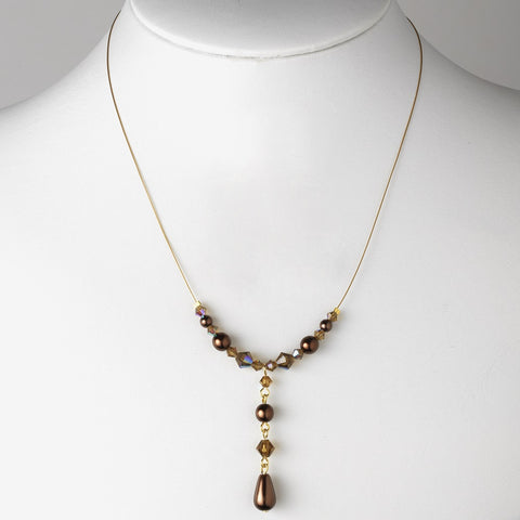 Brown, Gold, Jewelry, Necklace