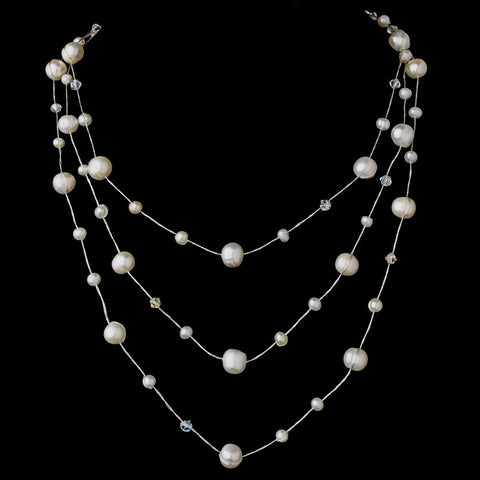 Ivory, Jewelry, Necklace, Silver