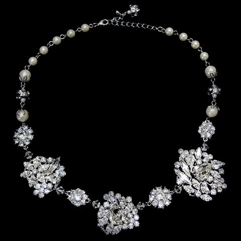 Ivory, Jewelry, Necklace, Rhodium