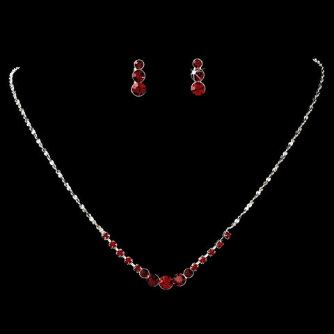 Jewelry, Jewelry Set, Red, Sale, Silver