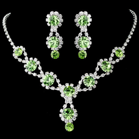 Green, Jewelry, Jewelry Set, Peridot, Silver