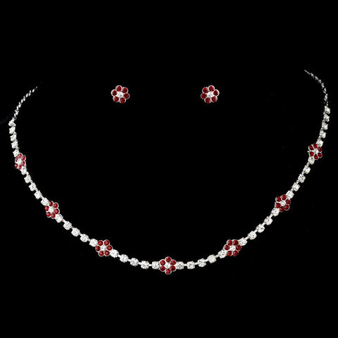 Jewelry, Jewelry Set, Red, Silver