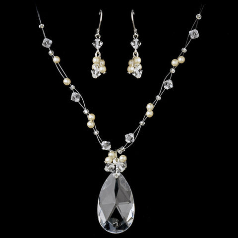 Jewelry, Jewelry Set, Silver, White