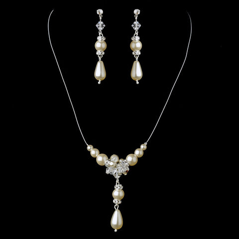 Ivory, Jewelry, Jewelry Set, Silver, White