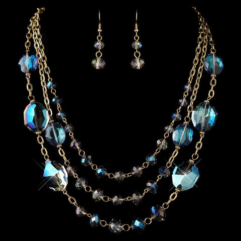 Blue, Gold, Jewelry, Jewelry Set