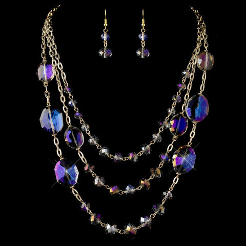 Gold, Jewelry, Jewelry Set, Purple