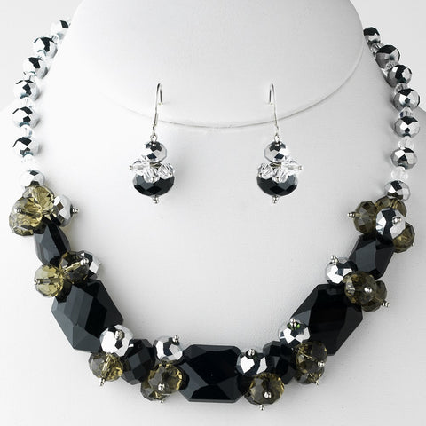 Black, Jewelry, Jewelry Set, Silver
