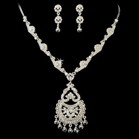 Clear, Jewelry, Jewelry Set, Rhodium