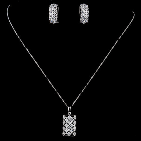 Clear, Jewelry, Jewelry Set, Solid 925 Sterling Silver, Sterling Silver