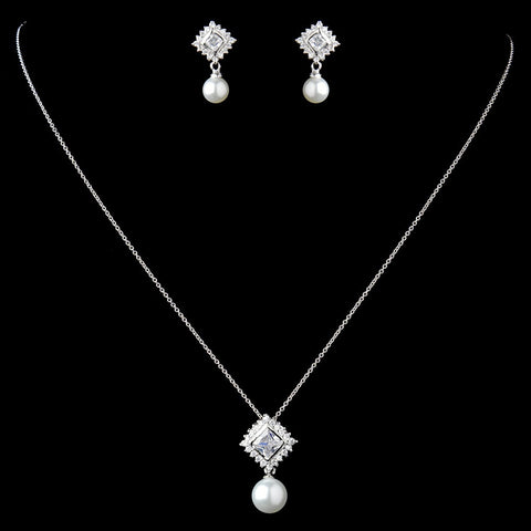 Jewelry, Jewelry Set, Solid 925 Sterling Silver, Sterling Silver, White