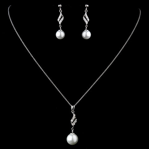Diamond White, Jewelry, Jewelry Set, Solid 925 Sterling Silver, Sterling Silver