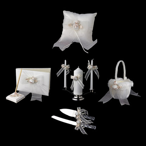 Accessories, Bow, Flower, Ivory, Organza, Reception, Reception Set, Rum