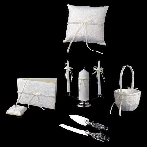 Accessories, Ivory, Lace, Reception, Reception Set