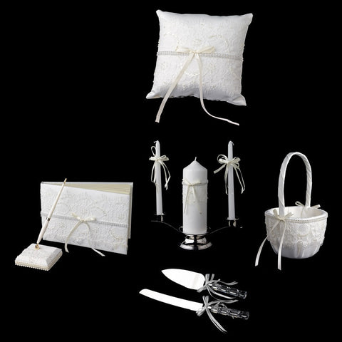 Accessories, Ivory, Lace, Reception, Reception Set, White