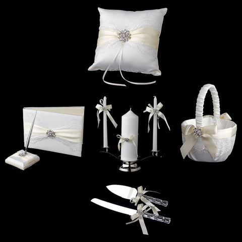 Accessories, Ivory, Reception, Reception Set, Ribbon, White