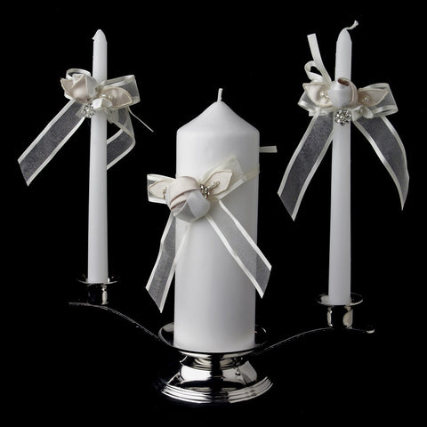 Accessories, Bow, Candle, Centerpiece, Flower, Ivory, Organza, Reception, Rum