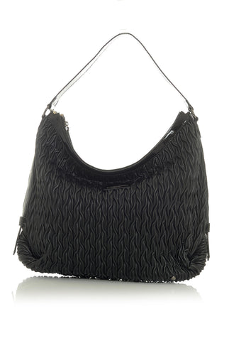 Black Cord Inspired Textured Handbag