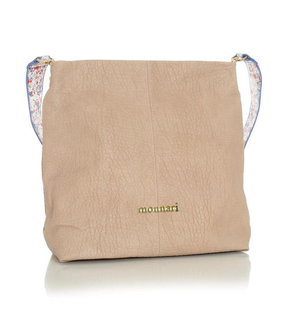 Pinkish Beige Everyday Handbag with Splatter Strap