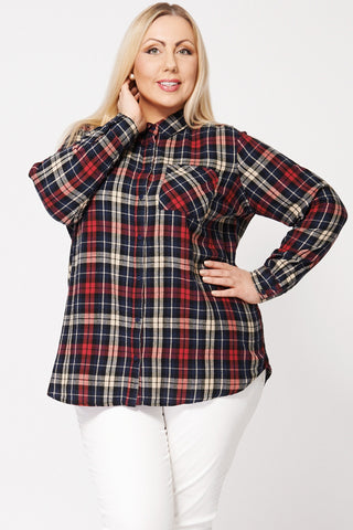 Multi Colour Check Shirt Ex-Branded-Multi-22