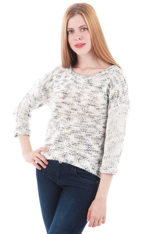 Back Bow Knitted Jumper-White-X-Small - UK (6-8)