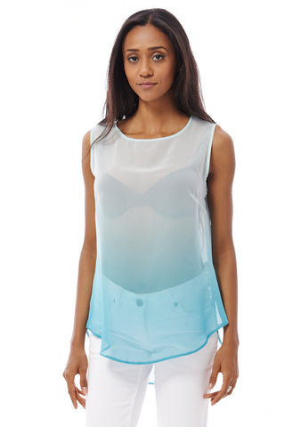Teal Mesh Top Available In Plus Sizes-Teal-UK 16 - EU 44
